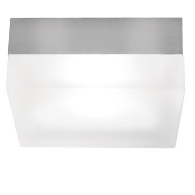 Agatha 2-Light Flush Mount Size / Finish: Large / Satin Nickel