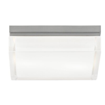 Humiston 1-Light Flush Mount Size: 2.5 H x 9 W x 9 D