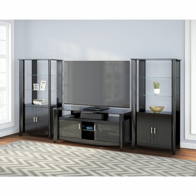 Wentworth TV Stand with Library Storage Cabinet