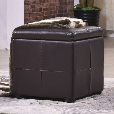 Classic Storage Cube Ottoman Upholstery: Espresso