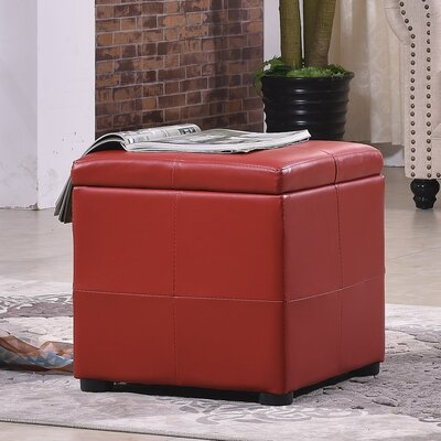 Classic Storage Ottoman Upholstery: Red