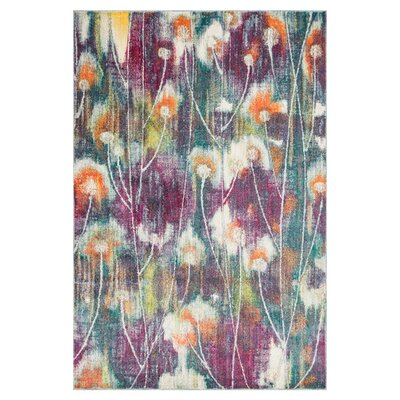 Milner Purple/Green Area Rug Rug Size: Rectangle 39 x 52