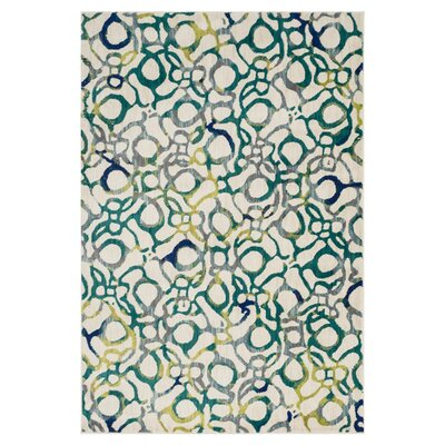 Lenore Teal Area Rug Rug Size: 39 x 52