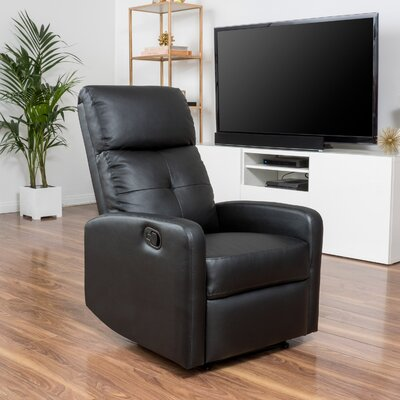 Suai Manual Recliner Upholstery: Black