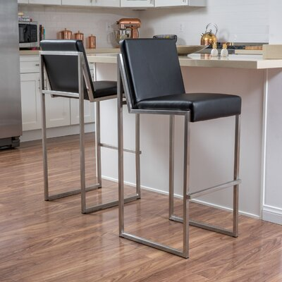 Marisol 29.5 Bar Stool Upholstery: Black