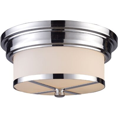 Raymond 2-Light Flush Mount Finish: Polished Chrome