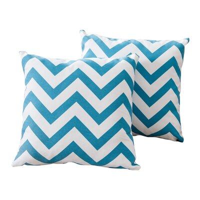 Xavier Jay Chevron Cotton Throw Pillow Color: Turquoise