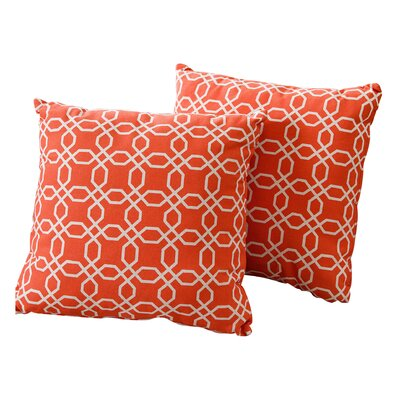 Como Cotton Throw Pillow Color: Orange