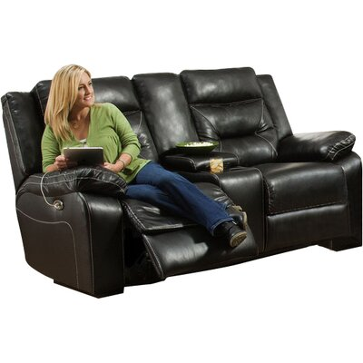 Latitude Run LTRN2778 28206063 Yahtzee Power Double Motion Console Reclining Loveseat