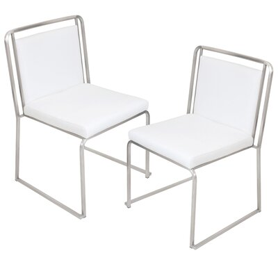 Leigh Side Chair Upholstery: White