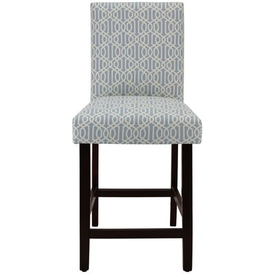 Bernadette 25 Bar Stool Upholstery: Trellis Small Blue