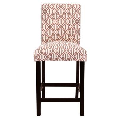 Bernadette 25 Bar Stool Upholstery: Trellis Small Coral