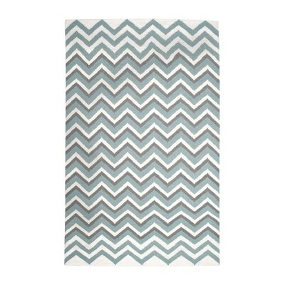 Naomi Hand Woven Blue/White Area Rug Rug Size: Rectangle 5 x 8