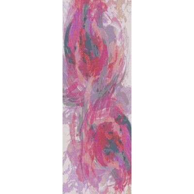 Donie Hot Pink Area Rug Rug Size: Runner 26 x 8