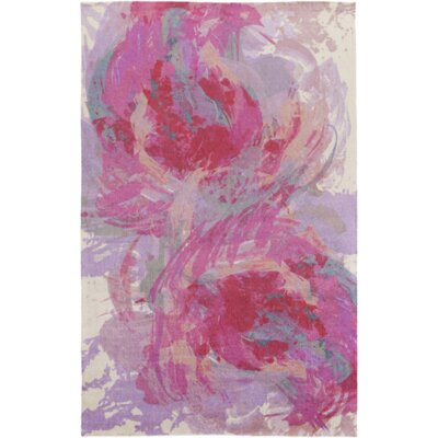 Donie Hot Pink Area Rug Rug Size: Rectangle 4 x 6