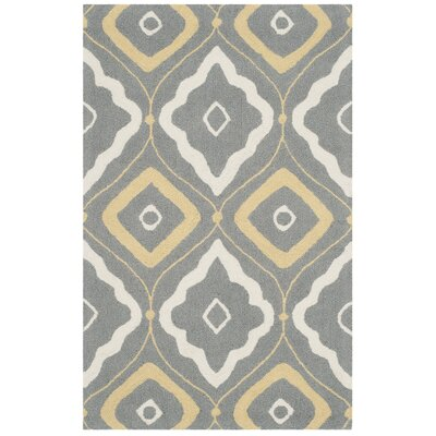 Salome Gray/Ivory Indoor/Outdoor Area Rug Rug Size: Rectangle 36 x 56