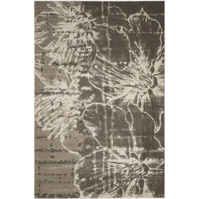 Glennville Gray/Dark Gray Area Rug Rug Size: Rectangle 52 x 76