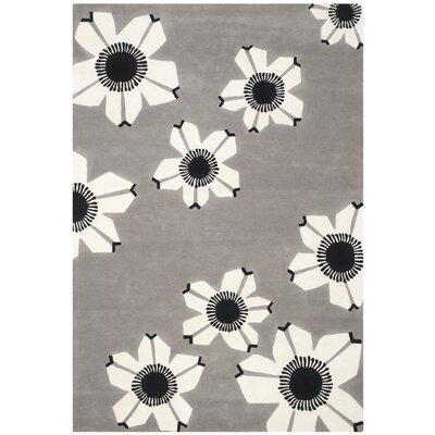 Vasilia Gray Area Rug Rug Size: Rectangle 5 x 8