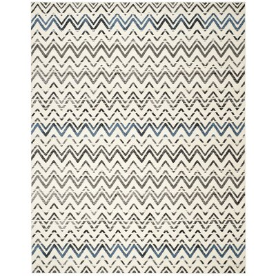 Pheobe Cream/Blue Area Rug Rug Size: 8 x 10