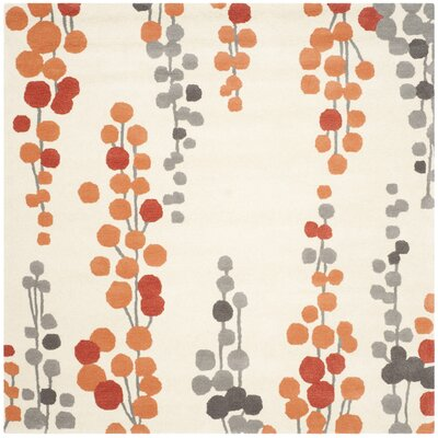 Chubbuck Beige/Orange Area Rug Rug Size: Square 6