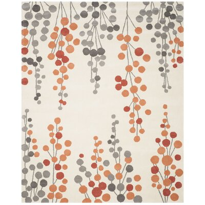 Chubbuck Beige/Orange Area Rug Rug Size: Rectangle 76 x 96