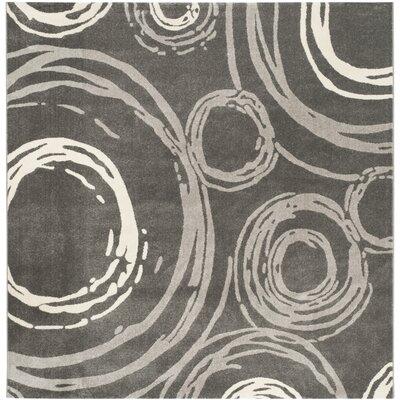 Kenzo Dark Gray Area Rug Rug Size: Square 67