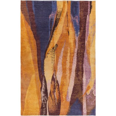 Meigs Orange/Purple Area Rug Rug Size: 4 x 6