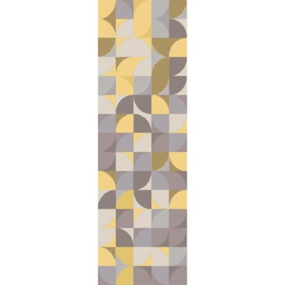 Lonie Hand-Tufted Lemon/Moss Area Rug Rug Size: Runner 26 x 8