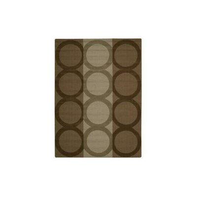 Viola Hand-Woven Chocolate Area Rug Rug Size: 73 x 93