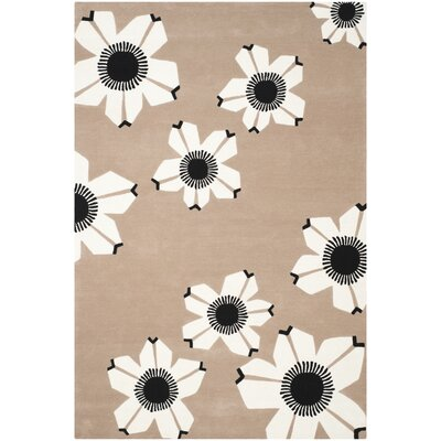 Between Brown Area Rug Rug Size: 4 x 6