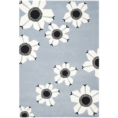 Ludowici Blue Area Rug Rug Size: Rectangle 4 x 6