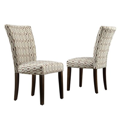 Etna Stripe Side Chair Upholstery: Fabric - Mocha Honeycomb