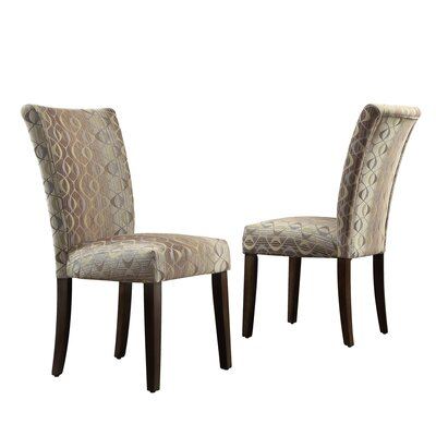 Etna Stripe Side Chair Upholstery: Fabric - Oval Chain