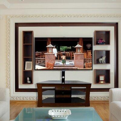 3 Glass Shelf TV Stand Finish: Espresso