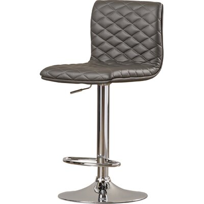Filipina Adjustable Height Swivel Bar Stool Upholstery: Grey