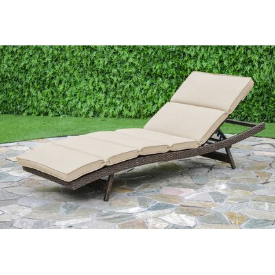 Latitude Run Oliver Chaise Lounge with Cushion Fabric: Beige