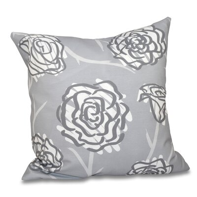 Aletha Spring Floral 2 Print Throw Pillow Size: 18 H x 18 W, Color: Gray
