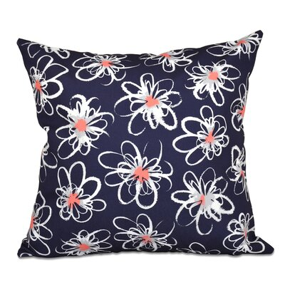 Cherry Penelope Geometric Print Throw Pillow Color: Navy Blue, Size: 20 H x 20 W