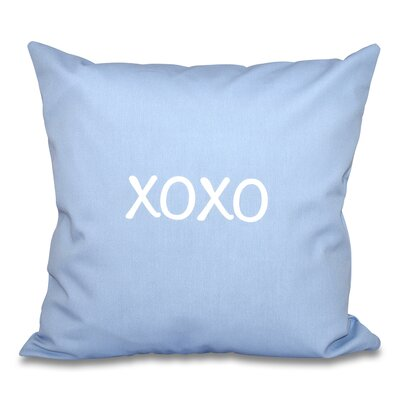 Forest River XOXO Throw Pillow Size: 18 H x 18 W, Color: Blue