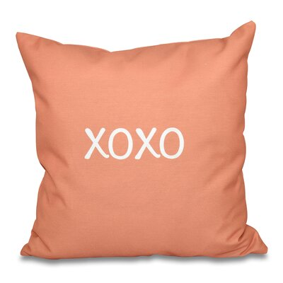 Forest River XOXO Throw Pillow Size: 18 H x 18 W, Color: Coral