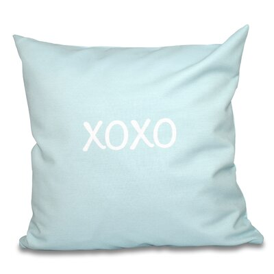 Forest River XOXO Throw Pillow Size: 20 H x 20 W, Color: Aqua