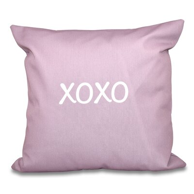 Forest River XOXO Throw Pillow Size: 16 H x 16 W, Color: Lavender