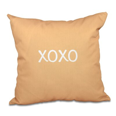 Forest River XOXO Throw Pillow Size: 26 H x 26 W, Color: Gold