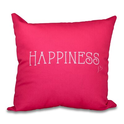 Olevia Happiness Throw Pillow Size: 18 H x 18 W, Color: Bright Pink