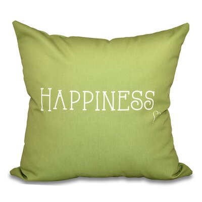 Olevia Happiness Throw Pillow Size: 16 H x 16 W, Color: Green