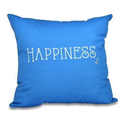Mae Coastal Happiness Throw Pillow Size: 20 H x 20 W, Color: Light Blue