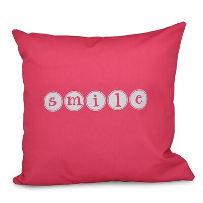Chugwater Throw Pillow Size: 16 H x 16 W, Color: Bright Pink