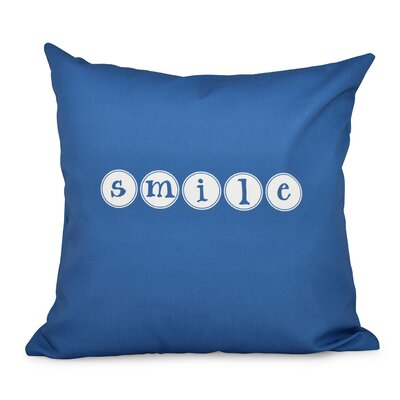 Chugwater Throw Pillow Size: 16 H x 16 W, Color: Blue