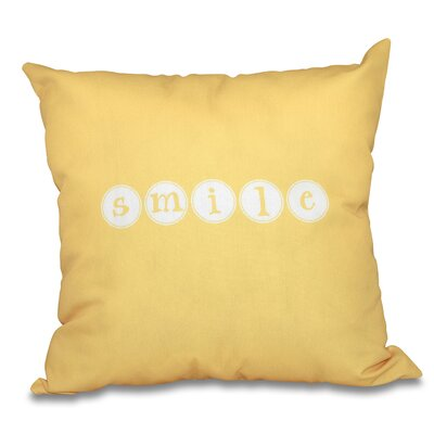 Chugwater Throw Pillow Size: 16 H x 16 W, Color: Yellow