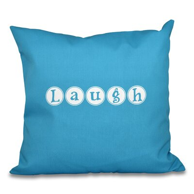 Darcy Laugh Throw Pillow Color: Blue, Size: 18 H x 18 W